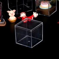 塑料透明收纳盒亚克力药盒DIY首饰品盒子食品玩具礼品包装盒 6*6cm带盖
