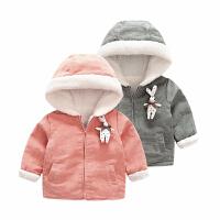女婴儿衣服秋装0岁6个月2男宝宝上衣4新生儿加绒加厚外套秋冬装