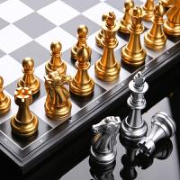 国际象棋磁性儿童高档学生初学者入门书大号套装折叠棋盘西洋棋子