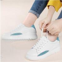 新款古奇天伦厚底学生休闲春季单鞋真皮小白鞋女百搭韩版平底GTY8830