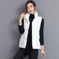 冬季新款时尚马甲女背心坎肩韩版修身学生立领棉外套
