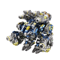 MU3D金属拼图星际争霸2人族雷神战甲模型diy手工拼装玩具摆件 星际雷神+送(工具+防尘罩)
