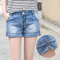 牛仔短裤女夏季韩版显瘦百搭休闲修身复古时尚学生弹力薄