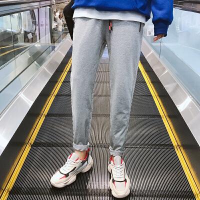 男士大贴袋运动裤男士宽松长裤小脚卫裤休闲裤男大码跑步裤子潮