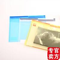 得力文具 deli 5504 A4魔术贴纽扣袋定制文件袋 透明按扣资料袋