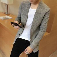 男士针织衫开衫外套韩版秋季新款潮流毛衣青年个性修身上衣男装