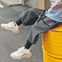 童装男童裤子秋冬新款潮加绒牛仔裤儿童长裤中大童哈伦裤洋气