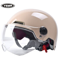 野马摩托车头盔电动电瓶车夏季半盔可爱男女轻便式四季安全帽灰奎