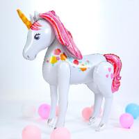 儿童生日气球生日装饰大号站立款独角兽铝膜气球小马宝莉主题派对 站立独角兽