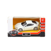 早教益智回力车开门儿童趣味玩具轿跑车合金车模汽车模型男孩小车