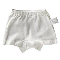 儿童装内衣女童四角裤小孩纯棉网眼轻薄弹力男童平角内裤白色透气
