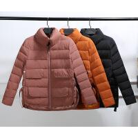 小棉袄女短款新款冬装韩版潮宽松百搭棉衣长袖外套 WQY3123桔色