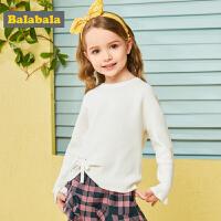 【秒杀价:49.9】巴拉巴拉女童毛衣套头衫小童宝宝外套秋装新款童装儿童线衣女
