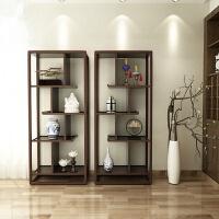 新中式博古架实木自组合玄关隔断柜装饰柜客厅陈列古董置物架定做 整装