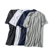 夏季新款纳米疏水黑科技防水防污运动速干短袖T恤男纯色圆领上衣