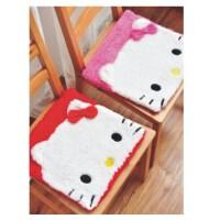 单品包邮 陆捌壹肆 新品Hello Kitty 绑带毛绒坐垫/办公椅垫/沙发垫/汽车坐垫 1个装