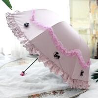蕾丝花边太阳伞黑胶防紫外线清新晴雨伞防晒遮阳晴雨公主伞拱形伞