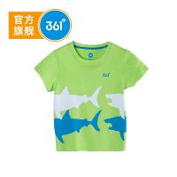 【2件3.5折价:31.15】361度童装男童短袖T恤儿童针织衫2018年夏季新款儿童短袖T恤N51824201