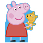 Peppa Pig All About Peppa,【粉红猪小妹】关于佩奇 佩奇外形儿童纸板书 英文原版图书