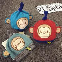 婴儿帽子0-3-6-个月秋冬宝宝帽子保暖儿童毛线帽男女针织帽韩版