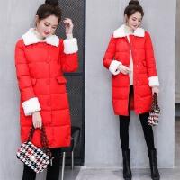 棉衣女中长款2017新款韩版学生宽松加厚韩国冬季可爱外套潮