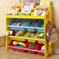 儿童玩具收纳架幼儿园宝宝书架置物架子多层卡通整理绘本架收纳柜