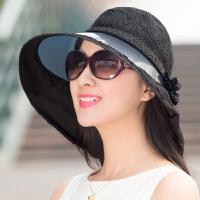 户外夏季骑车大沿遮阳帽女太阳帽防晒帽沙滩帽子