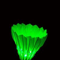 5只装带灯夜用娱乐发光软木羽毛球 耐打泡沫荧光3个绿色