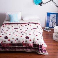 加厚毛毯珊瑚绒床单毯子夏季空调盖毯绒毯学生午睡法兰绒毛毯J 星月 200X230cm(毛毯)