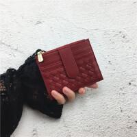 卡包女超薄小巧拉链零钱袋复古多卡位证件卡套ins韩新款简约卡夹