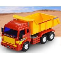 中号惯性工程车卡车儿童翻斗车载土车装土车玩具模型礼品