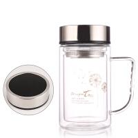 双层加厚玻璃杯水杯子定制logo广告杯定做印字促销礼品杯茶杯