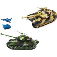 履带式电动遥控坦克车模型 子对战可发射儿童充电汽车玩具 男孩
