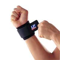 LP欧比护腕单片式腕部调整束套753 篮球网球运动腕关节防护束带 单只
