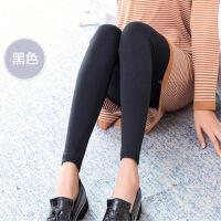 秋季薄款纯棉黑色打底裤女士外穿大码高腰弹力显瘦紧身小脚长裤女