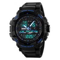 潮流男表防水个性电子表户外运动多功能手表时尚男学生腕表