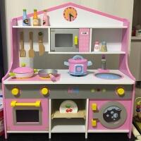 木制儿童过家家套装23-4-5-6岁宝宝女孩男孩仿真做饭灶台