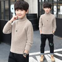 儿童装男童秋冬装毛衣中大童马高领打底衫