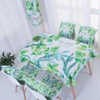 新款长方形布艺餐桌布茶几布台布家用小清新田园棉麻桌布T 葱葱