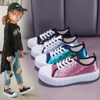 儿童板鞋女童鞋休闲鞋时尚饼干中大童布鞋
