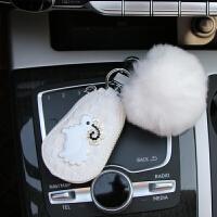 车用遥控套汽车钥匙包可爱 汽车钥匙套通用女腰挂钥匙扣创意