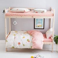 棉棉宿舍床单人床上用品3三件套男女大学生寝室1.2米0.9m被套
