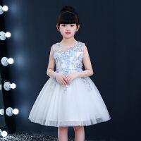 女童公主裙蓬蓬纱夏季儿童礼服女主持人演出服连衣裙新款裙子