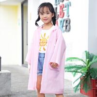 儿童雨衣幼儿园女童卡通宝宝雨衣3岁小孩雨披小学生带书包位雨衣
