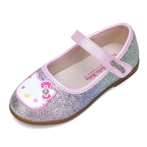 HELLO KITTY童鞋女童公主皮鞋春季休闲鞋新款韩版学生单鞋