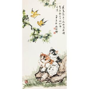 张树增《猫》著名画家