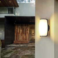 led户外壁灯简约现代防水外墙庭院灯创意过道入户花园室外阳台灯