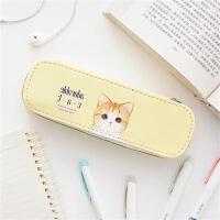 苏铁时光soti time 萌猫笔袋学生大容量帆布文具收纳袋铅笔盒可爱
