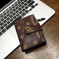 新款2018小钱包女短款卡包多卡位时尚多功能皮夹容量大钞钱夹