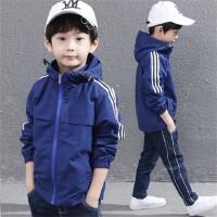 男童外套2020儿童冲锋衣连帽上衣双层带内衬